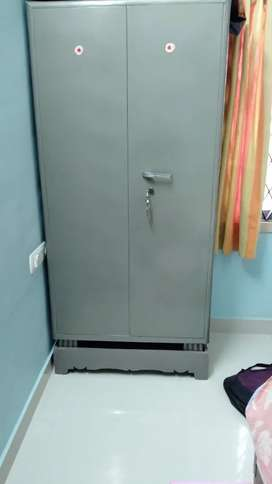 Metal cupboard for clothes