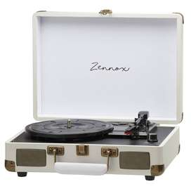 Briefcase Vinyl Turntable, Retro Style Portable with stereo speakers