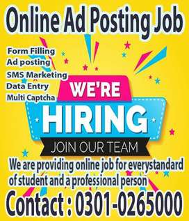 We are hiring students for part time Data entry online job at home