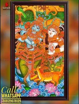 Radhakrishna mural painting
