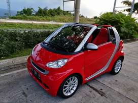 Smart fortwo for two for 2 cabriolet merah red mulus 2011