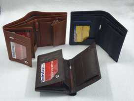 Leather wallet book style