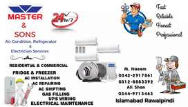 Ac installation services gas charging repairing