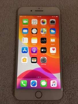 Iphone 8 plus 64gb gold colour mint condition