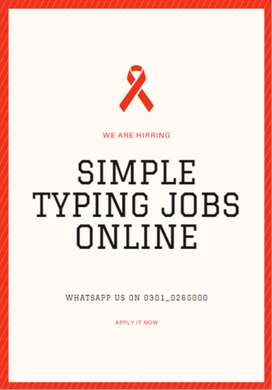Apply with us Simple typing jobs are available here to earn cash