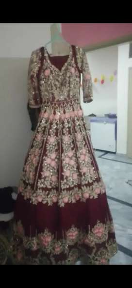 Full hand embalished maxi bridal lehenga look