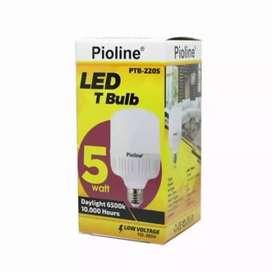 Lampu LED T Bulb 5 watt Pioline - Hemat, Berkualitas, Ramah Lingkungan