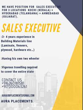 Required Sales Executive for Ahmedabad