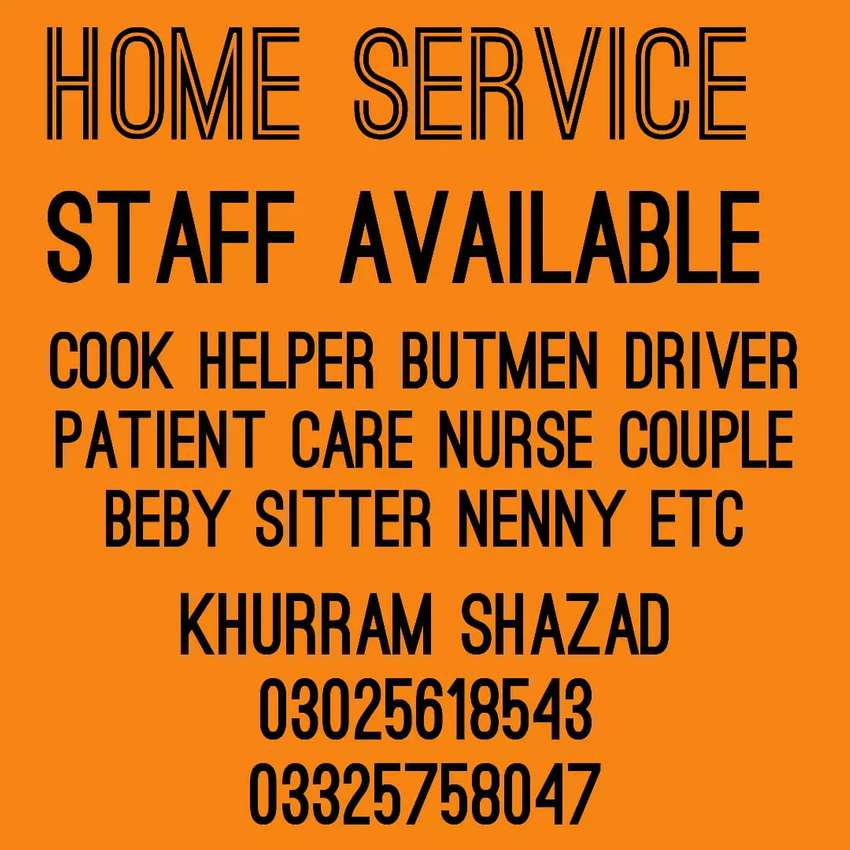 Domestic Staff Available 0