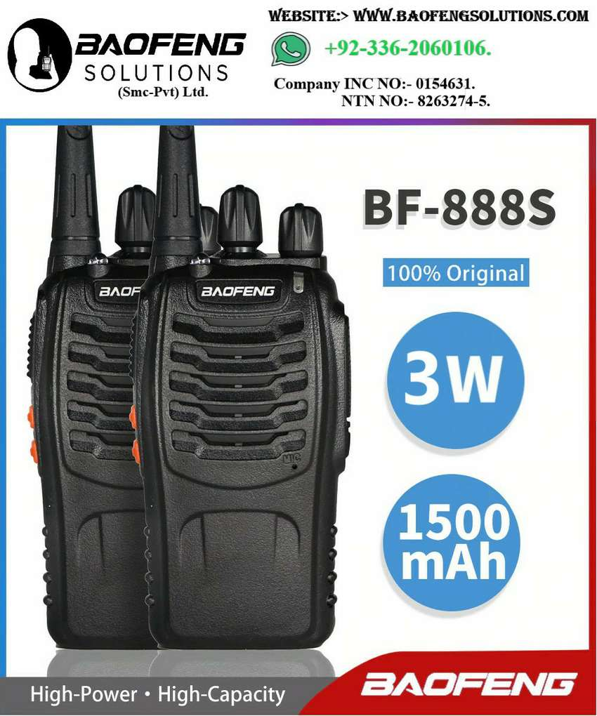 Genuine/BAOFENGoriginal Baofeng Bf-888s Two way radios walkie talkies.