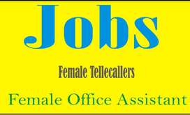 require receptionist tellecallers office assistant