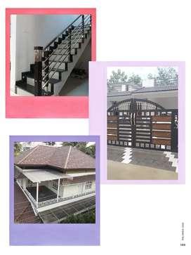 Truss works,gate work, stainless steel handrails,
