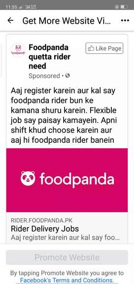 foodpanda need a delivery man