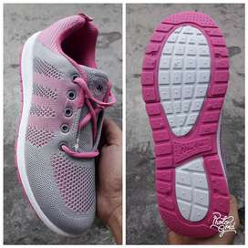 sepatu sport running NEW ERA BARBARA PINK / GREY