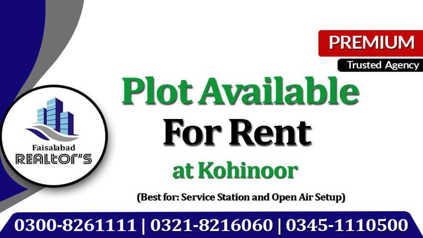 Plot on Rent for Open air Setup, Service Station & Mart at Kohinoor 0