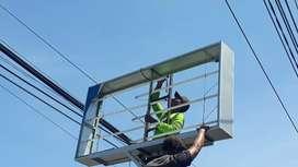 Spesialis bongkar pasang neon box papan nama reklame area Klaten Solo