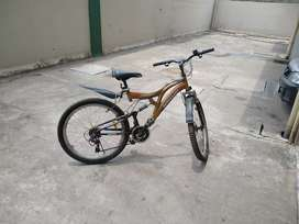 Tata stryder 10 geared cycle with dual suspension