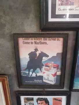 iklan sign kertas original rokok lawas marlboro tempoe doeloe