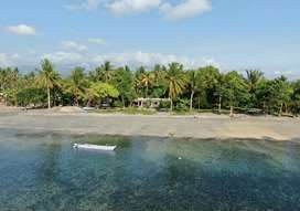Hotel on the beach in East Lombok