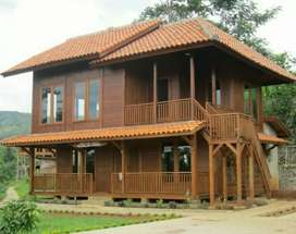Terima pesenan Rumah kayu clasik maupun modern