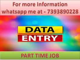 Simple DATA ENTRY work Part time HOME BASE job .
