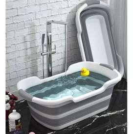 Bak Mandi Bayi Lipat Foldable Baby Bathtub 60 x 40 cm
