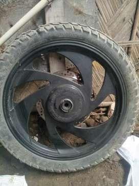 2 Alloy wheels for Bullet