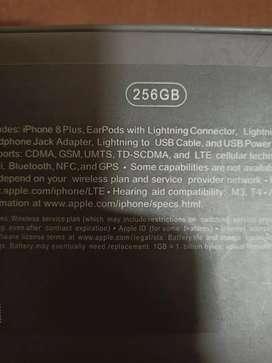 Iphone 8 plus 256gb Black