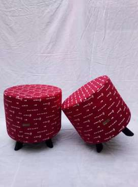 pack of two wood stool