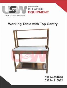 Working Table With Top Gantry