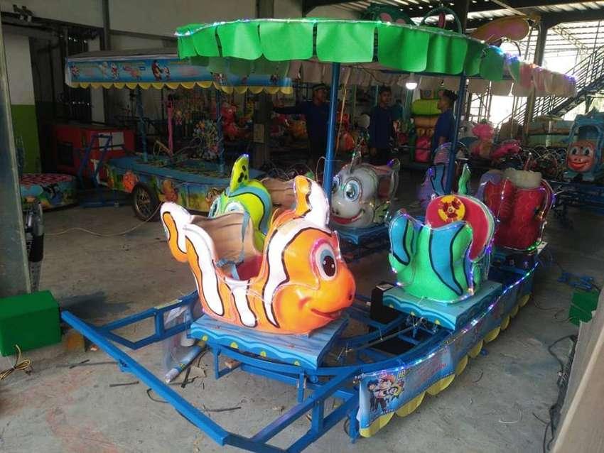 wahana mainan anak odong2 kereta Panggung rell putar UL 0