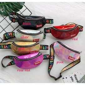 KEIRACARE tas pinggang selempang anak metalic spure waist bag bumbag -