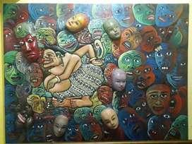 Lukisan satrio paningit mixed media