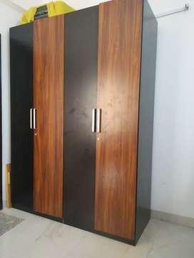 EVOK four door Wooden wardrobe in excellent condition