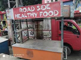 Food stall for street food.