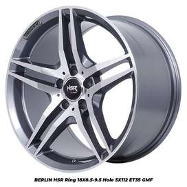 jual velg type hsr wheel BERLIN HSR R18X85-95 H5X112 ET35 GMF