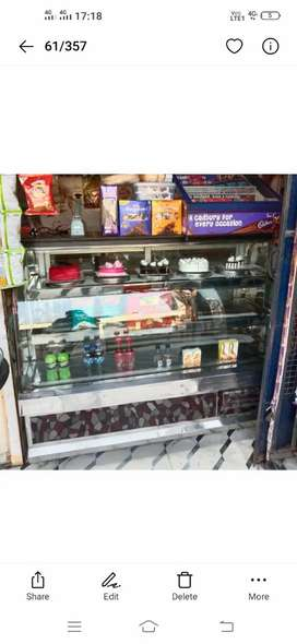 Display counter fridge 5ft Solanki made.