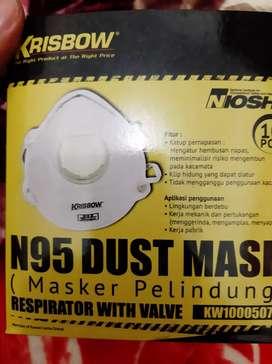 Masker N95 dengan filter (Respirator with valve)