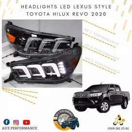 LED Headlight Head Lamps Toyota Hilux Revo 2016-2020 Pair