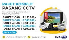CCTV paket 4 camera Murah Free Monitor Free Instalasi