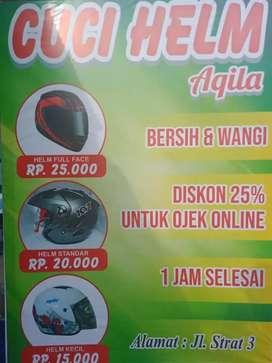 Cuci helm aqila bersih &wangi