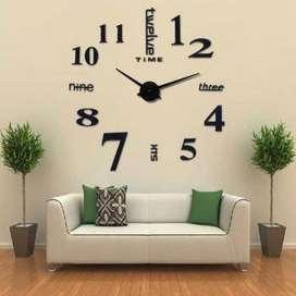 Taffware Jam Dinding Besar DIY Giant Clock Quartz 80-130cm