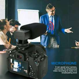 S5 Microphone Shotgun L/R Stereo for Universal DSLR, Camcorder, dll