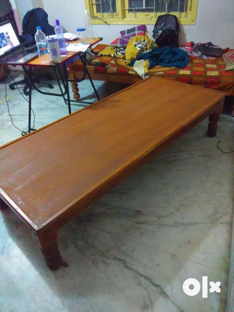 Wooden cot ( 2.5 × 6 ) 0