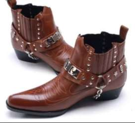 Cowboy hand made leather shoes