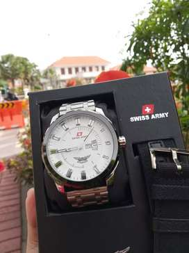 Swiss Army Aviation Silver White Fullset Box