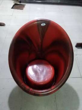 Tub chair with pillow each one