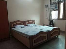 Fully furnished room with attach let bath.