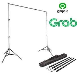 (BIsa COD)Bracket Background Foto Studio Stand 3M