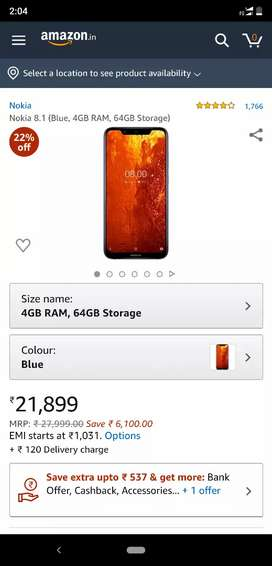 Nokia 8.1 just 1 month ago buy